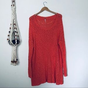 Free People Pink Oversized Sweater Size M